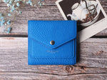 Small Leather Wallet for Women, RFID Blocking Women's Credit Card Holder Mini Bifold Pocket Purse BG1023 Limited Sapphire Blue - Borgasets
