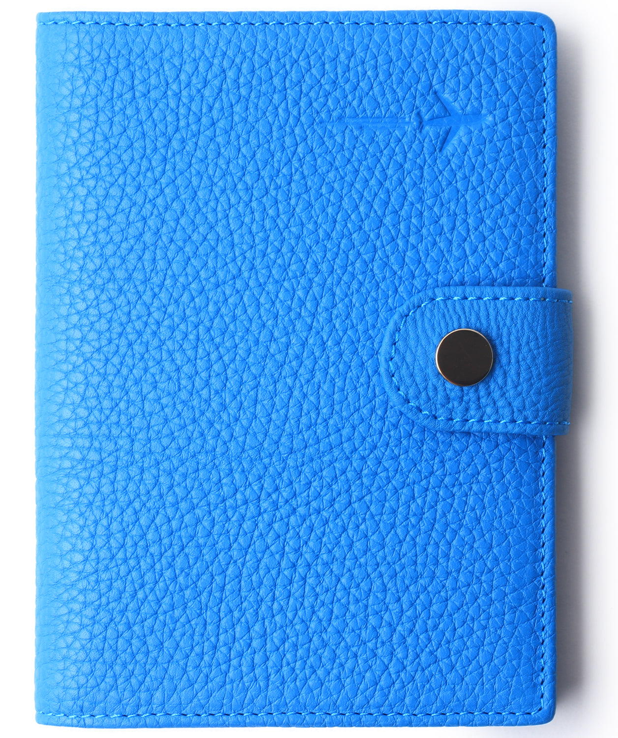 Leather Rfid Blocking Travel Passport Holder Cover Slim ID Card Case Wallet Sapphire Blue - Borgasets