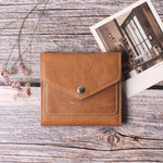 Small Leather Wallet for Women, RFID Blocking Women's Credit Card Holder Mini Bifold Pocket Purse BG1023 Oil Wax Brown - Borgasets