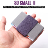 Slim Wallet Front Pocket Minimalist Thin Credit Card Holder Mini Size Men and Women Purple - Borgasets