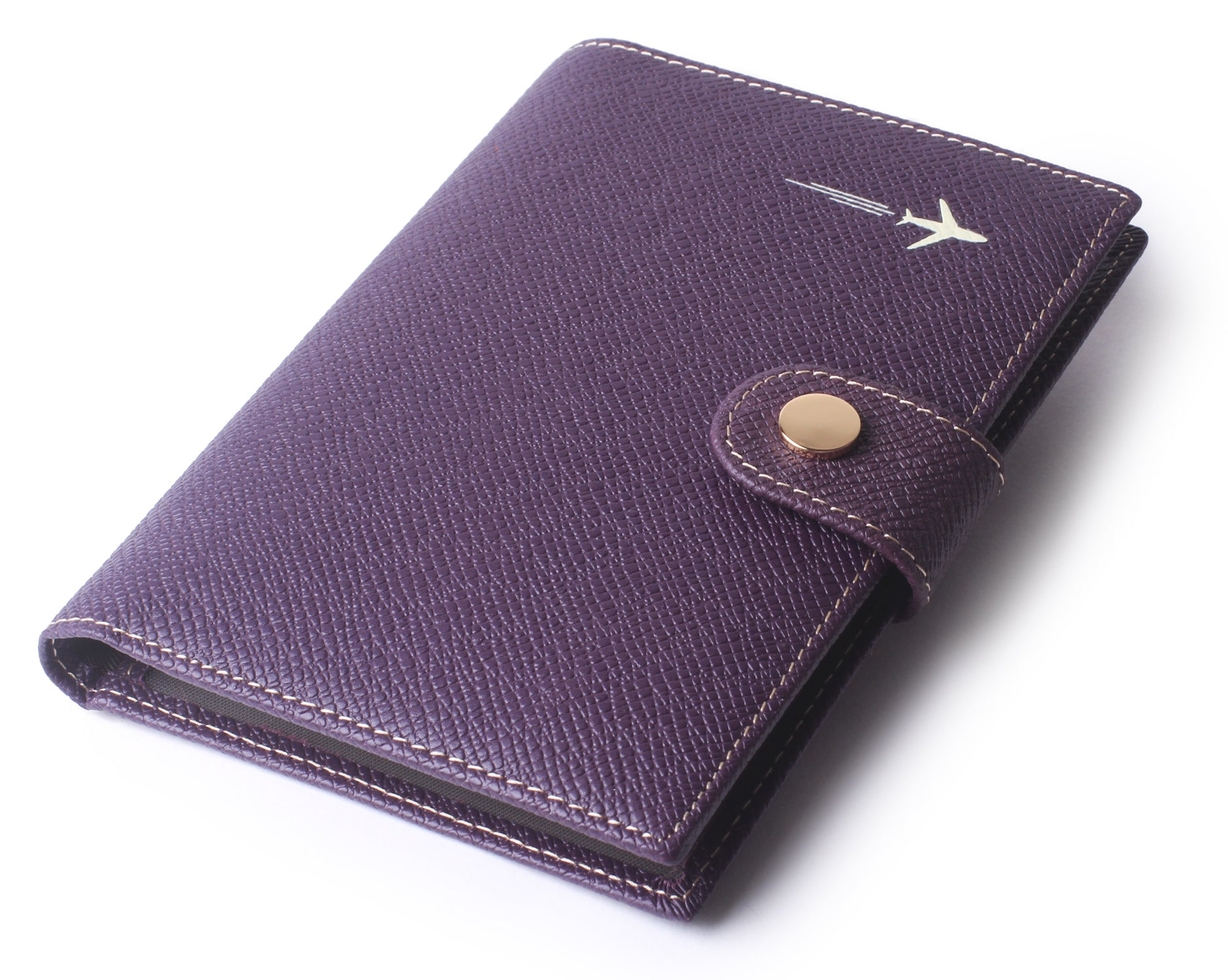 Leather Rfid Blocking Travel Passport Holder Cover Slim ID Card Case Wallet Purple - Borgasets