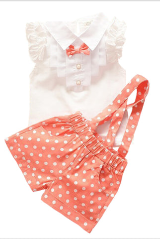 Gingham Ruffle Set (Pink or Green)