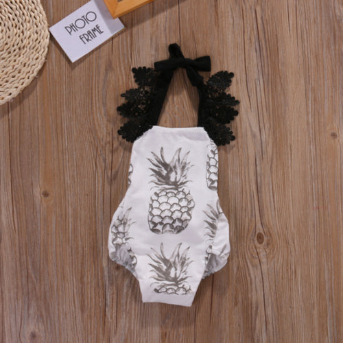 Pineapple Lace Romper - Darling Little One