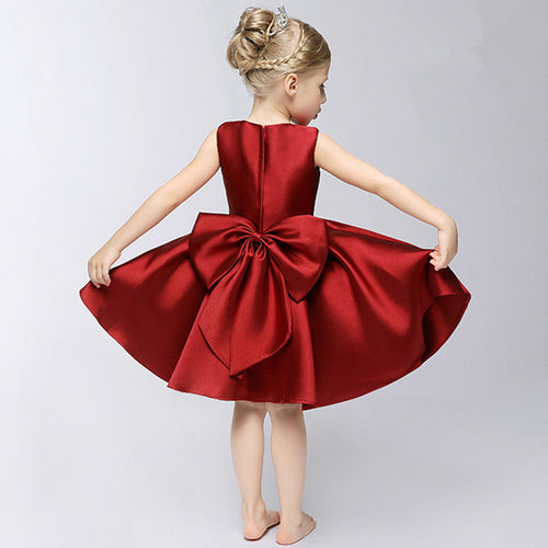 Formal Party Dress (Red/Green/Pink)