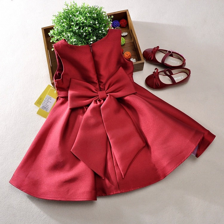 Formal Party Dress (Red/Green/Pink) - Darling Little One