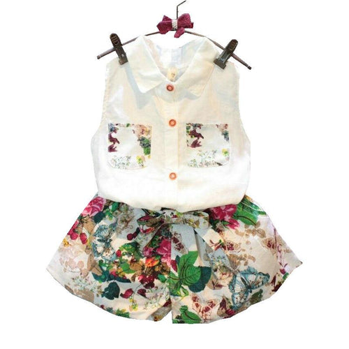 Floral Blouse Set - Darling Little One