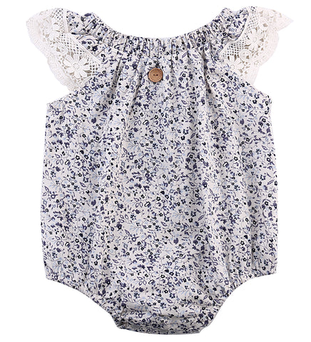 Snowflake Romper (Red or Blue)