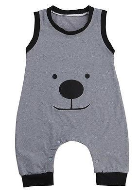 Bear Face Romper - Darling Little One