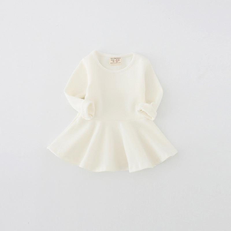 Casual Cotton Long-Sleeve Dress - Darling Little One