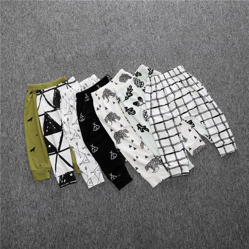 Patterned Cotton Pants - Darling Little One