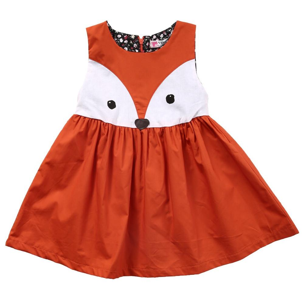 Fox Face Dress - Darling Little One