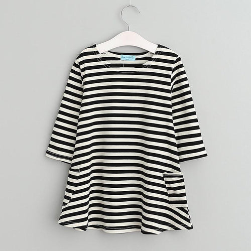 Asymmetrical Striped Dress - Darling Little One