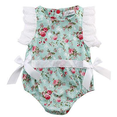 Floral Butterfly Sleeve Romper - Darling Little One