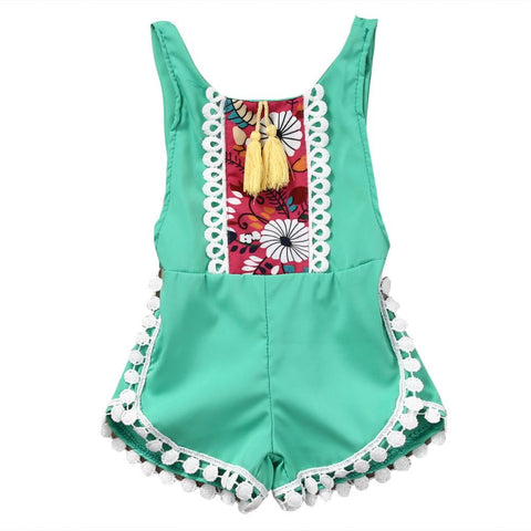 Butterfly Sleeve Cut-out Romper