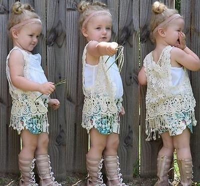 Lace Vest (White or Beige) - Darling Little One