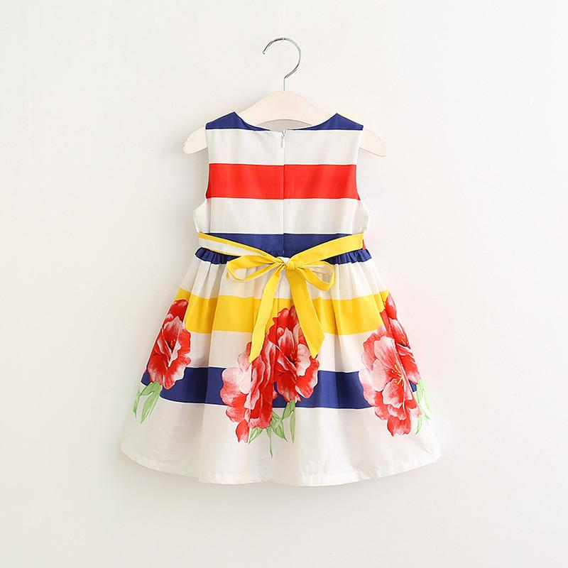 Thick Striped Floral Dress - Darling Little One