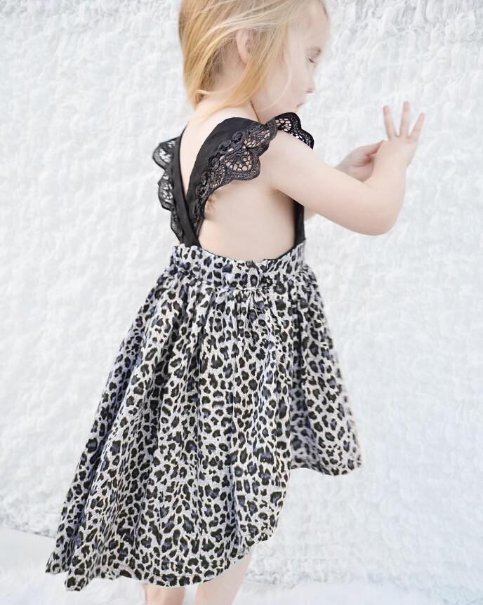 Flutter Sleeve Animal Print Dress - Darling Little One