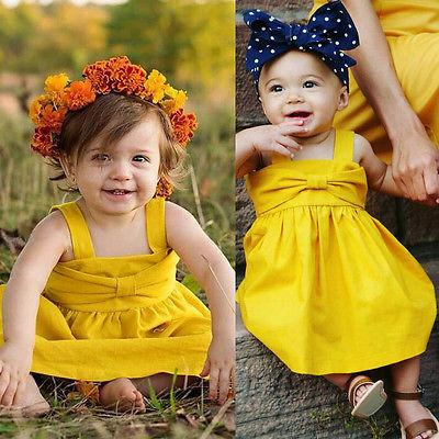 Yellow Party Dress - Darling Little One