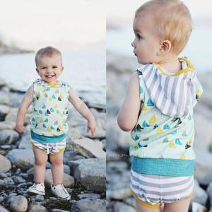 Sailboats and Stripes (2 pcs) - Darling Little One