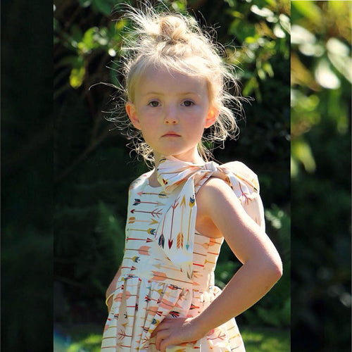 Arrow Print Dress with Headband - Darling Little One