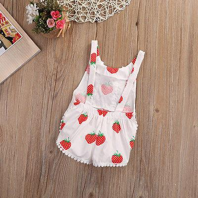 Strawberry Romper - Darling Little One