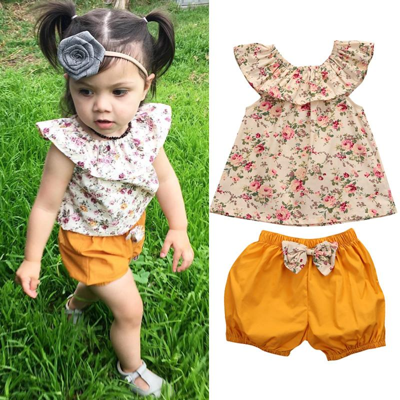 Ruffle Top Set (2 pieces) - Darling Little One