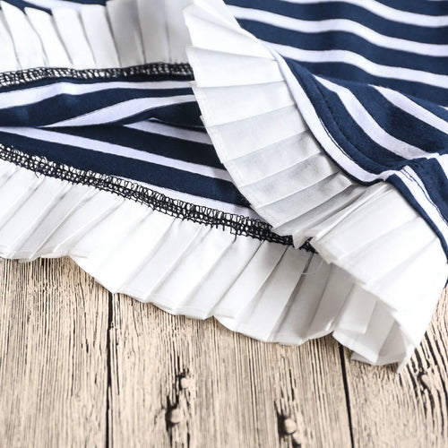 Navy Stripe Dress - Darling Little One