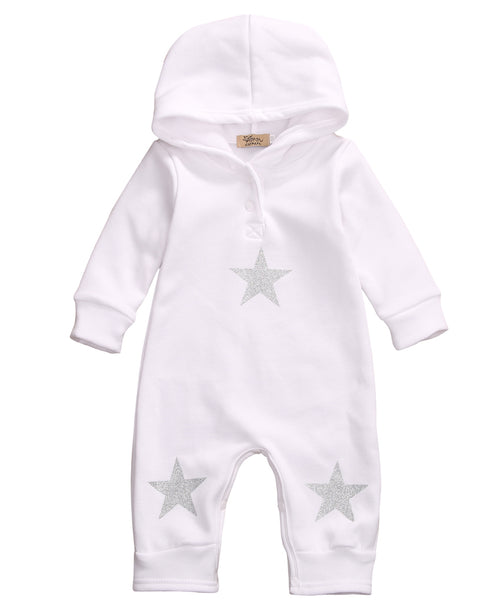 Hooded Star Romper - Darling Little One