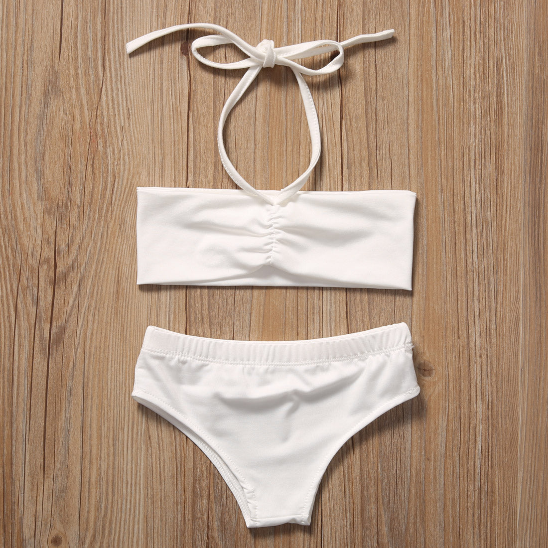 Girls Bikini and Cover-up 3 pc. Set (White or Black)