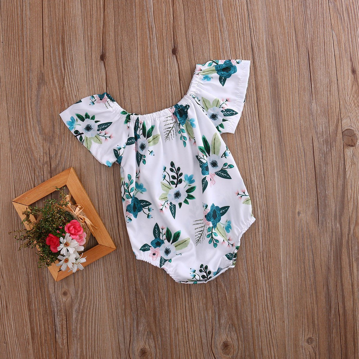 White Poppy Romper - Darling Little One