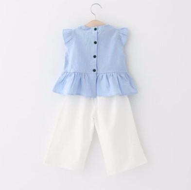 Butterfly Sleeve and Pants Set - Darling Little One