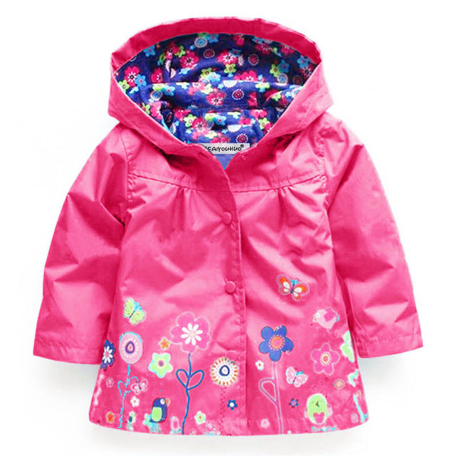 Floral Design Raincoat (more colors) - Darling Little One