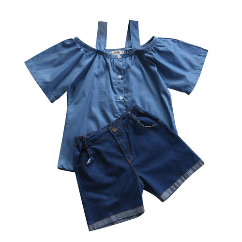Off Shoulder Set (2 pcs) - Darling Little One