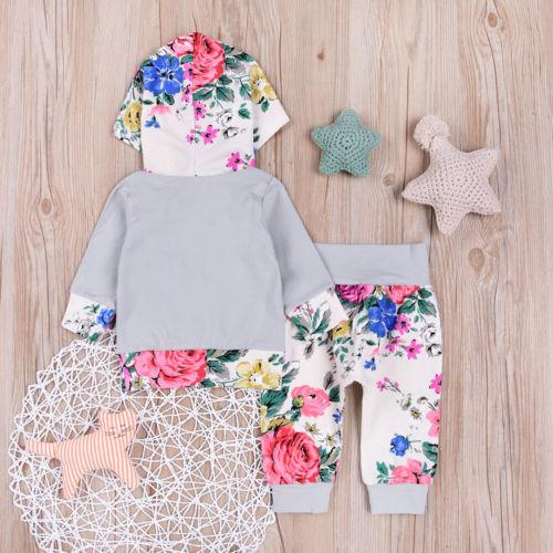 Floral Hooded Outfit - Darling Little One