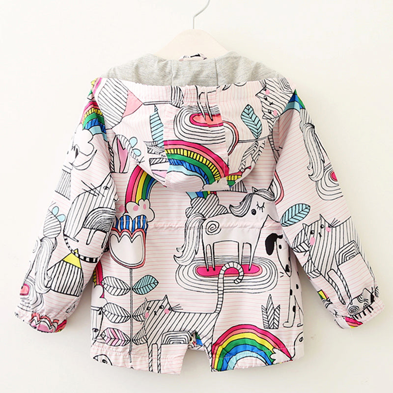 Unicorns and Rainbows Coat - Darling Little One