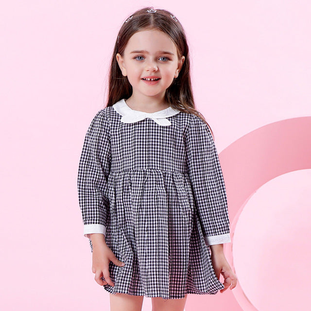 Black Plaid Dress - Darling Little One