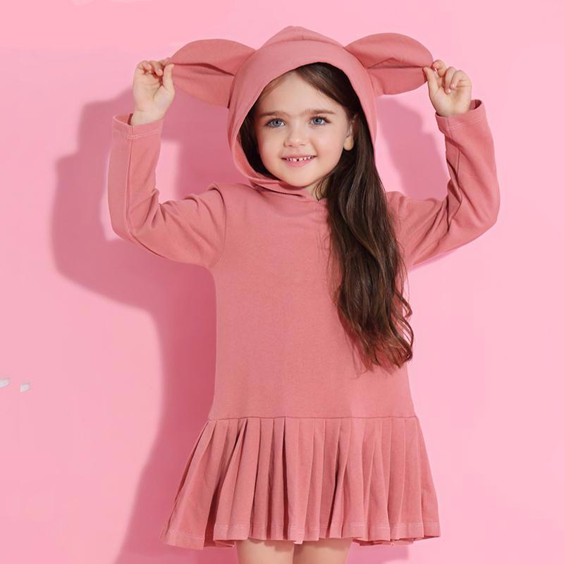Animal Ears Hooded Dress - Darling Little One