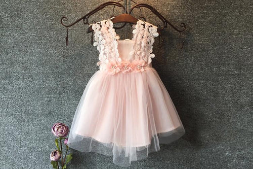 Lace and Flower Dress (more colors) - Darling Little One