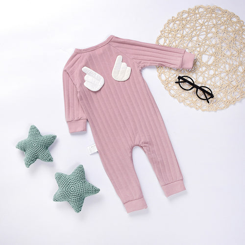 Angel Wings Romper (Grey or Pink) - Darling Little One