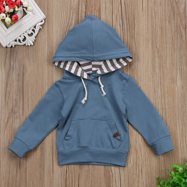 Blue Hooded Sweatshirt - Darling Little One