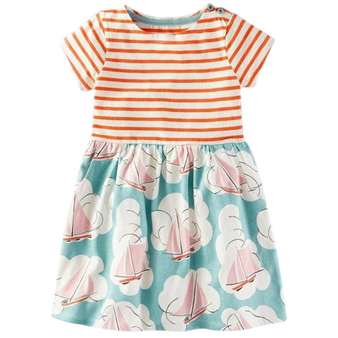 Stripes and Roses Dress