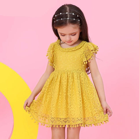 Lace and Flower Dress (more colors)