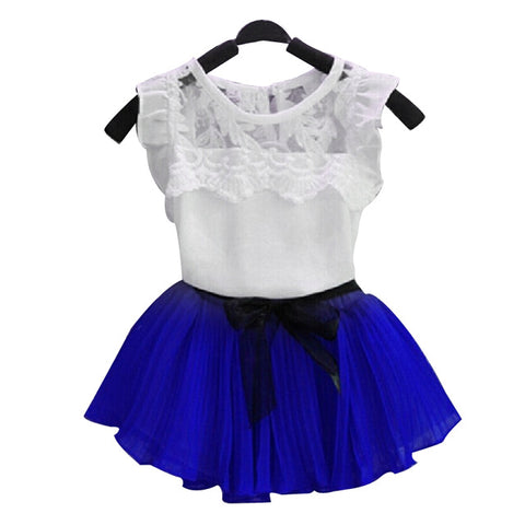 Floral Mini Skirt Outfits 2Pcs
