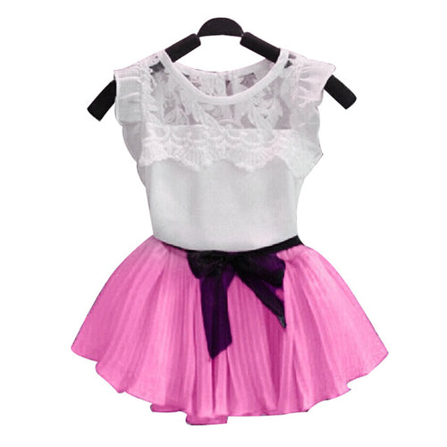 Lace Top and Skirt Set (6 Colors) - Darling Little One