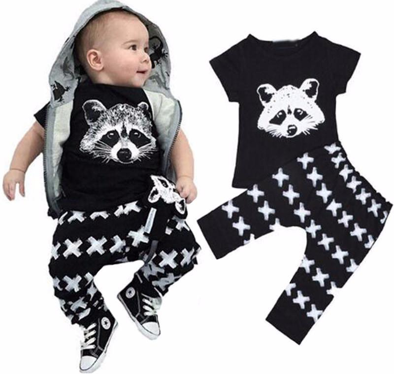 Raccoon Outfit Set (2pcs) - Darling Little One