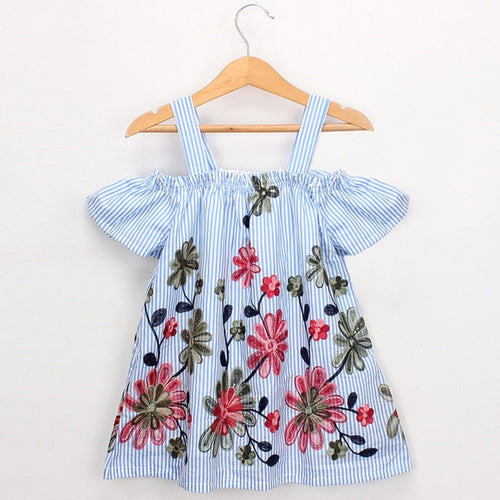 Off-Shoulder Floral Dress - Darling Little One