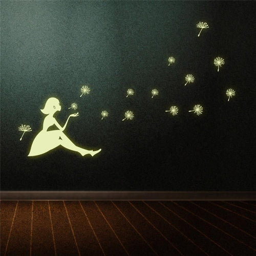 Dandelion Girl luminous Wall Stickers - Darling Little One