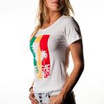Palm Tri-Color Women's Tee