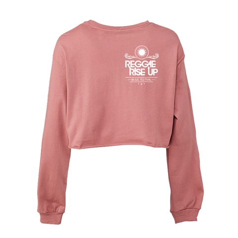 Mauve Crop Long Sleeve Tee