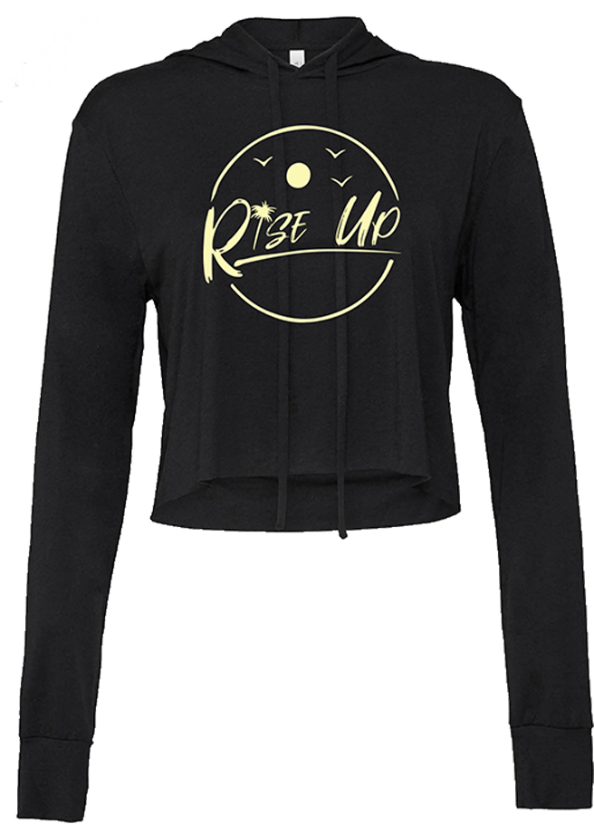 Rise Up Moon Women's Crop Sweatshirt